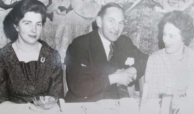 Maureen Dowley, Edward Dowley and Mrs Frank Storey at Dowley Social circa 1960