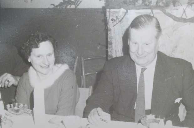 Biddy Morrissey and Cecil Dowley at Dowley Social circa 1960