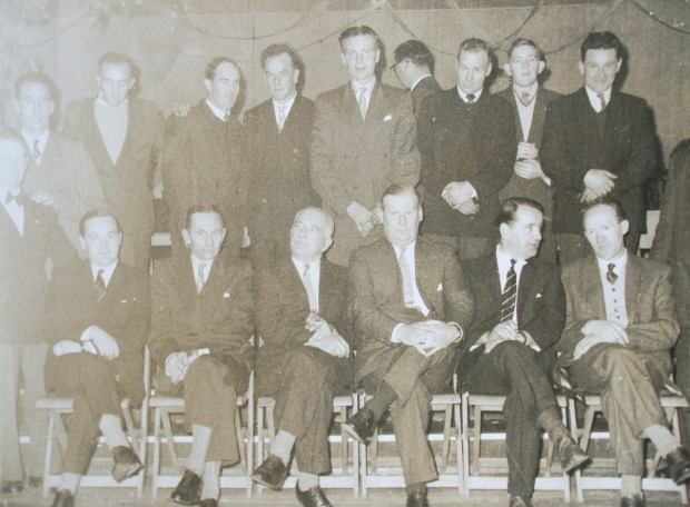 Standing: Danny Carroll, ????, ????, ????, DicK Joye, Charlie Steel, Edrick Dowley, Billy O'Neill, Brendan Cleary, Michael O'Dwyer Seated: Kevin Dowley, Edward Dowley, William Dowley, Cecil Dowley, Donald Dowley, Willie Morrissey
