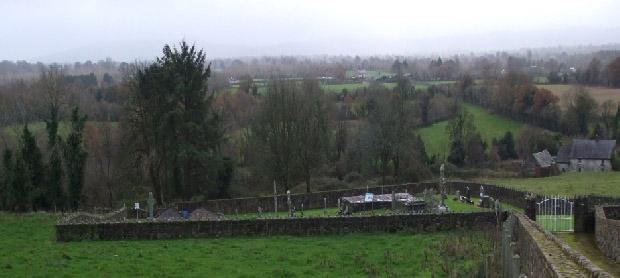 The restored Kilkieran cemetery east of Skough
