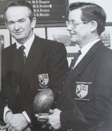 Jim Brown & Leslie Dowley, both past Presidents of County Carlow FC