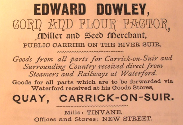 Advertisement in Bassetts Directory of Tipperary 1889